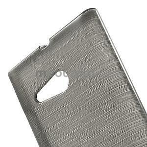 Gélový obal Brush na Nokia Lumia 730/735 - sivý - 5