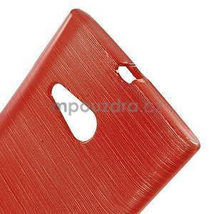 Gélový obal Brush na Nokia Lumia 730/735 - červený - 5