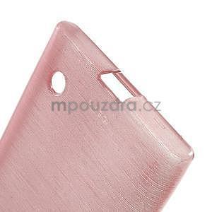 Gélový obal Brush na Nokia Lumia 730/735 - ružový - 5