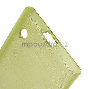 Gélový obal Brush na Nokia Lumia 730/735 - zelený - 5