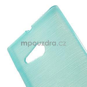 Gélový obal Brush na Nokia Lumia 730/735 - modrý - 5