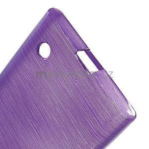 Gélový obal Brush na Nokia Lumia 730/735 - fialový - 5