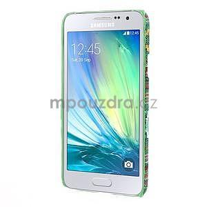 Obal potažený látkou na Samsung Galaxy A3 - zelený - 5