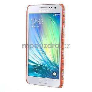 Obal potažený látkou pre Samsung Galaxy A3    - oranžový - 5