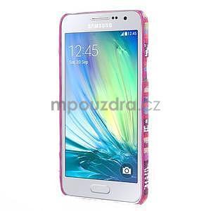 Obal potažený látkou pre Samsung Galaxy A3    - rose - 5