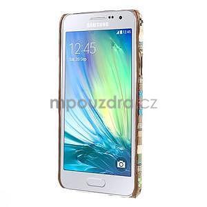 Obal potažený látkou pre Samsung Galaxy A3 - 5