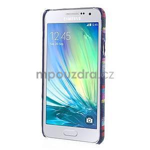 Obal potažený látkou pre Samsung Galaxy A3    - mix barev II - 5
