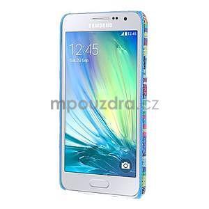 Obal potažený látkou pre Samsung Galaxy A3    - mix barev I - 5