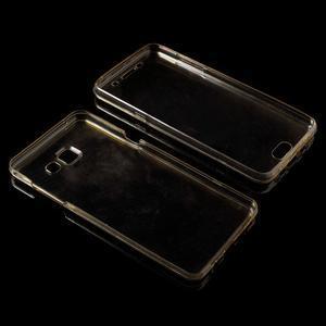 Gélový obal 2v1 pro zadní kryt a displej pre Samsung Galaxy A5 (2016) - zlatý - 5