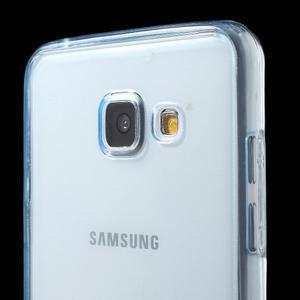 Gelový obal 2v1 pro zadní kryt a displej na Samsung Galaxy A5 (2016) - modrý - 5