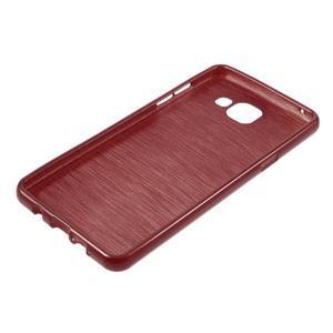 Brush gélový obal pre Samsung Galaxy A5 (2016) - červený - 5