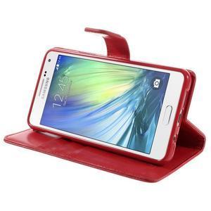Luxusný PU kožené puzdro pre mobil Samsung Galaxy A5 (2016) - červené - 5