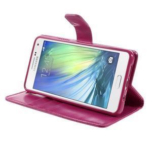 Luxusný PU kožené puzdro pre mobil Samsung Galaxy A5 (2016) - rose - 5