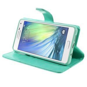 Luxusný PU kožené puzdro pre mobil Samsung Galaxy A5 (2016) - cyan - 5