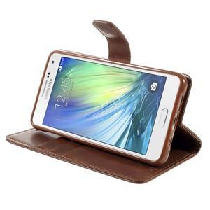 Luxusný PU kožené puzdro pre mobil Samsung Galaxy A5 (2016) - hnedé - 5