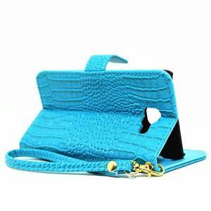 Croco peňaženkové puzdro Samsung Galaxy A5 (2016) - modré - 5