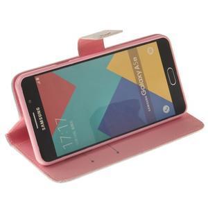 Wall peňaženkové puzdro pre Samsung Galaxy A5 (2016) - červené pierko - 5