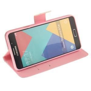 Wall peněženkové pouzdro na Samsung Galaxy A5 (2016) - barevná peříčka - 5