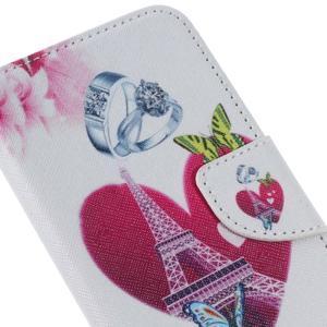 Softy peňaženkové puzdro pre Samsung Galaxy A5 (2016) - srdca Eiffel - 5