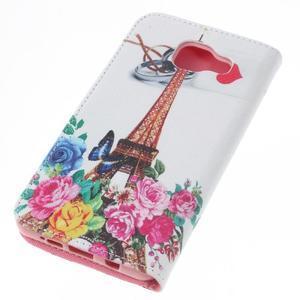 Softy peňaženkové puzdro pre Samsung Galaxy A5 (2016) - Eiffelka a kvety - 5