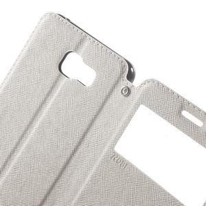 Peňaženkové puzdro s okienkom pre Samsung Galaxy A5 (2016) - biele - 5