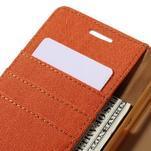 Canvas PU kožené/textilní pouzdro na Samsung Galaxy A5 (2016) - oranžové - 5/7