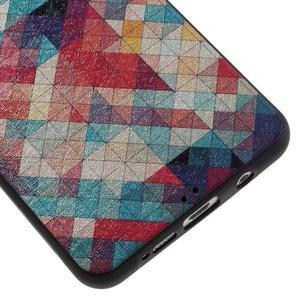 Gelový obal s koženkovým vzorem na Samsung Galaxy A5 (2016) - hexagon - 5