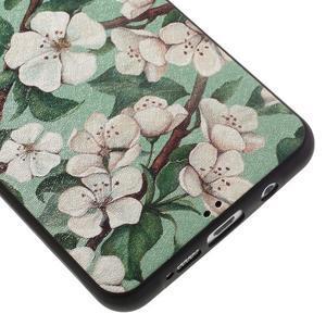Gélový obal s koženkovým vzorem pre Samsung Galaxy A5 (2016) - kvety - 5
