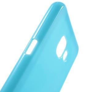 Jelly lesklý pružný obal na Samsung Galaxy A5 (2016) - modrý - 5