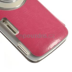 Růžové peňaženkové puzdro na Samsung Galaxy K Zoom C115 - 5