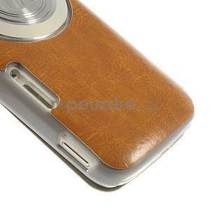 Oranžové peňaženkové puzdro na Samsung Galaxy K Zoom C115 - 5