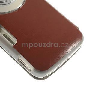 hnedé peňaženkové puzdro na Samsung Galaxy K Zoom C115 - 5