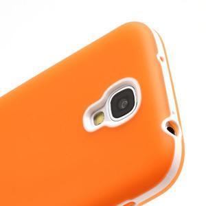 Gelové pouzdro 2v1 na Samsung Galaxy S4 - oranžové - 5
