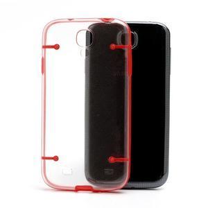 Obal na mobil se svítícími hranami na Samsung Galaxy S4 - červené - 5