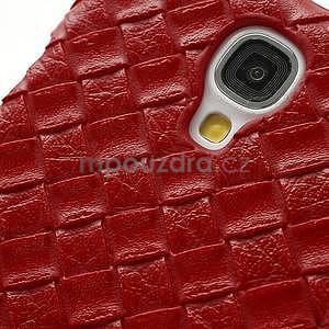 PU kožené puzdro pre Samsung Galaxy S4 - červené - 5