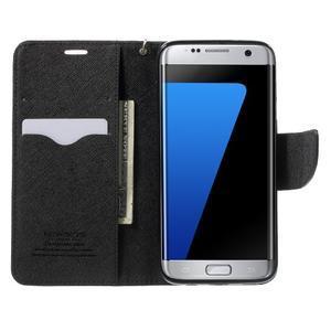 Mercury Orig PU kožené puzdro pre Samsung Galaxy S7 - čierne - 5