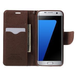Mercury Orig PU kožené puzdro pre Samsung Galaxy S7 - čierne/hnedé - 5