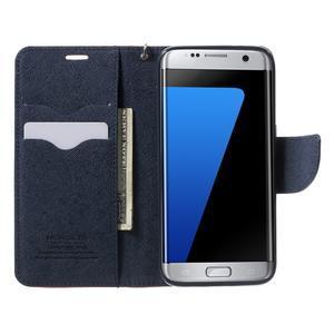 Mercury Orig PU kožené puzdro pre Samsung Galaxy S7 - červené - 5