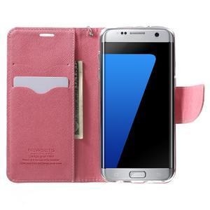 Mercury Orig PU kožené pouzdro na Samsung Galaxy S7 - rose - 5