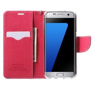Mercury Orig PU kožené pouzdro na Samsung Galaxy S7 - růžové - 5