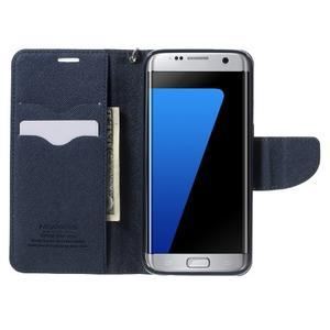 Mercury Orig PU kožené pouzdro na Samsung Galaxy S7 - azurové - 5
