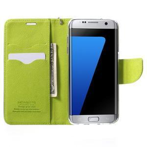 Mercury Orig PU kožené pouzdro na Samsung Galaxy S7 - tmavěmodré - 5
