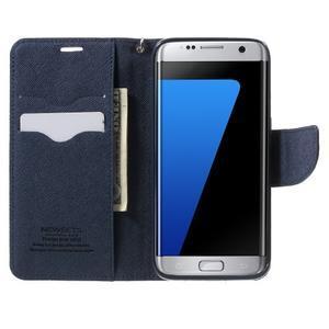 Mercury Orig PU kožené pouzdro na Samsung Galaxy S7 - fialové - 5