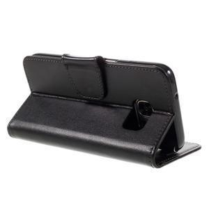 Rich PU kožené peněženkové pouzdro na Samsung Galaxy S7 - černé - 5