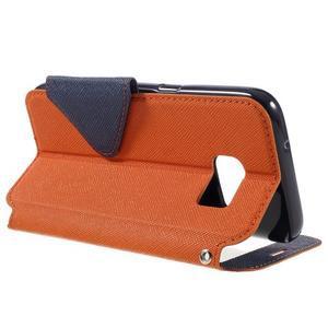 Diary puzdro s okienkom pre Samsung Galaxy S7 - oranžové - 5
