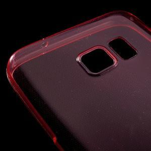 Ultratenký gélový obal pre mobil Samsung Galaxy S7 - červený - 5