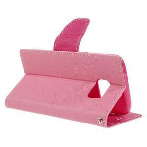 Goosper PU kožené puzdro pre Samsung Galaxy S7 - ružové - 5