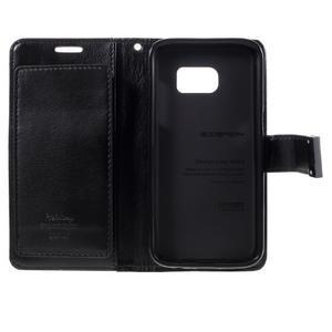 Luxury PU kožené pouzdro na Samsung Galaxy S7 - černé - 5