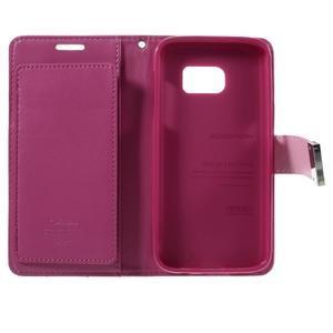 Luxury PU kožené puzdro pre Samsung Galaxy S7 - rose - 5
