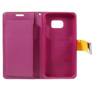 Luxury PU kožené puzdro pre Samsung Galaxy S7 - žlté - 5